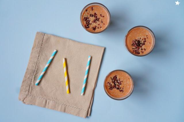 smoothie cacao cajou dattes vegan healthy petit déjeuner