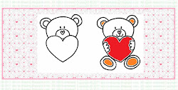 valentine draw drawing bear teddy heart face upside write down ears upper writing between another side