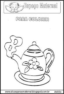 Desenho de bule para colorir