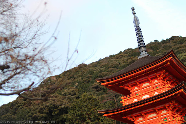 Pagoda-like structure in Kyoto, Japan