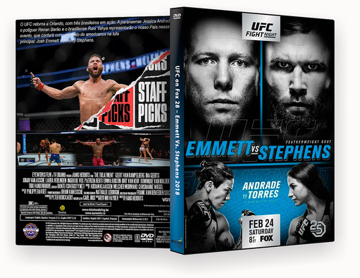 UFC on Fox 28 – Emmett Vs. Stephens 2018 – ISO – CAPA DVD