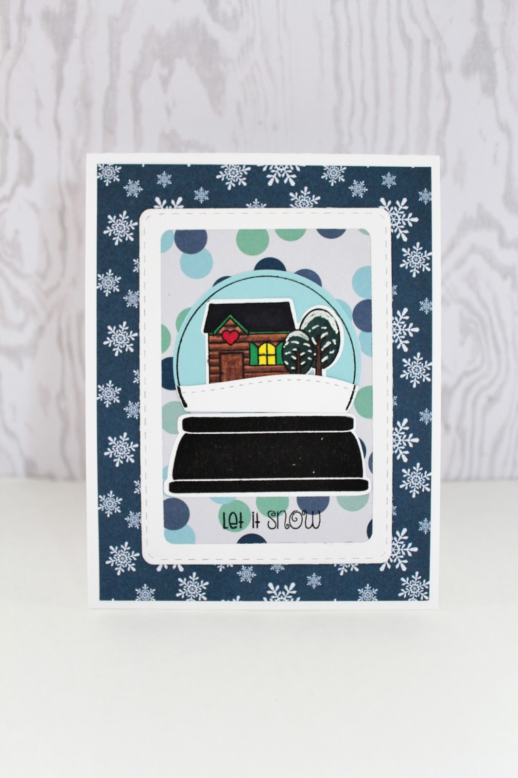 Let It Snow Snow Globe | Pink and Main Blog