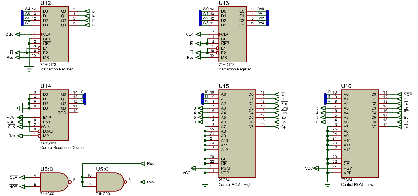 How To Simplify Block Diagrams 1998 Dodge Caravan Radio Wiring Diagram Discrete Digital Logic Circuits: Sap-1 With A Microcoded Rom