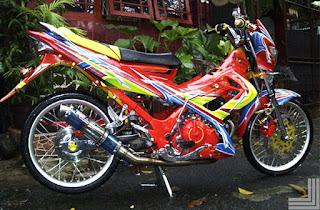 10 Modifikasi Motor Satria Fu Terkeren