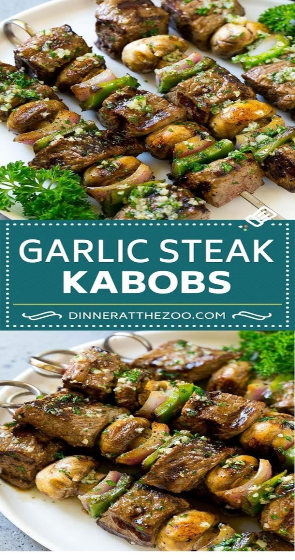 Steak Kabobs with Garlic Butter