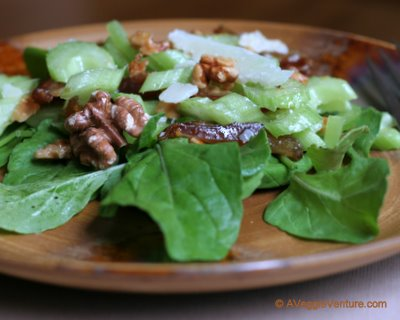 Celery Salad with Dates & Walnuts, another simple, seasonal salad ♥ AVeggieVenture.com.