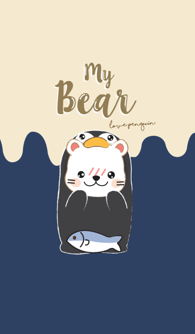 Bear loves Penguin. (Beige Ver.)