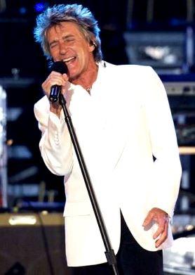 Foto de Rod Stewart en una presentación