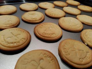 Galletas de mantequilla decoradas con sellos