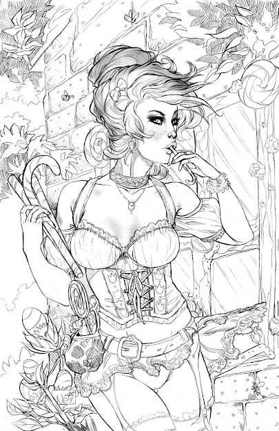Color Draw Adult Coloring Pages Coloring Book Coloring For Adults  Deviant Art Grimm Fairy Tales Big Dogs Rosalie Sign On
