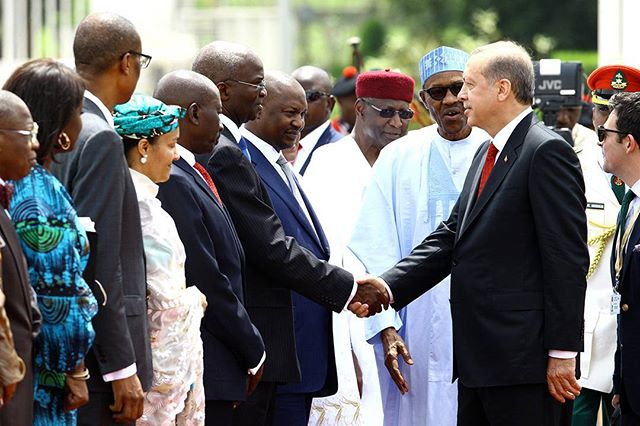 This Morning President Buhari Received The Of Turkey Recep Tayyip Erdogan At State House In Abuja