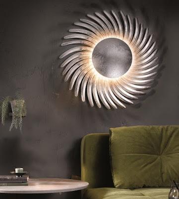 moderní nábytek Reaction, lampy na stěnu, kulaté lampy