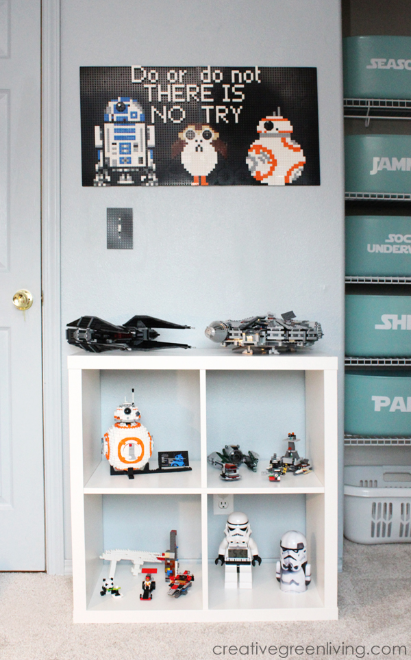 Lego Star Wars room makeover with non-toxic carpet