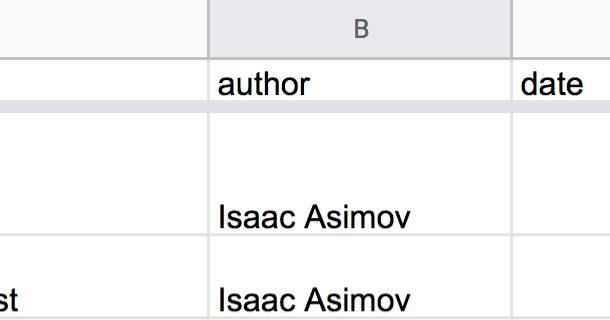 Exporting a Google Spreadsheet as JSON
