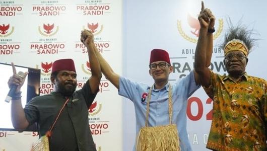 Temui Sandiaga, Penasihat 7 Kepala Suku di Papua Barat Bertekad Menangkan Prabowo