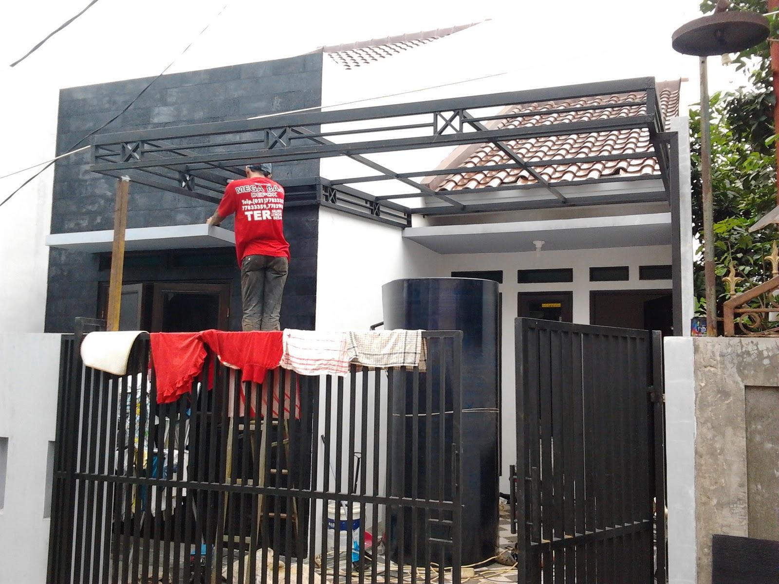 kanopi baja ringan model gantung pembuatan pagar kanopi: desain canopy terdiri atas bagian