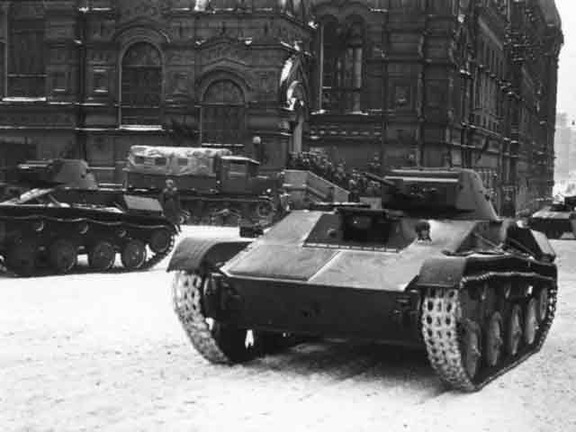 Soviet T-60 tank with T-30 turret, 30 November 1941 worldwartwo.filminspector.com