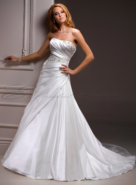 wonderful Strapless Wedding Dresses With Bling