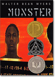 Monster by Walter Dean Myers is a Printz award winner aka great book for teens/ya.  Eighth grade teachers could find great value in this book as a class read.  Boys especially, even reluctant readers, will enjoy this fast read.  Alohamora Open a Book http://www.alohamoraopenabook.blogspot.com/