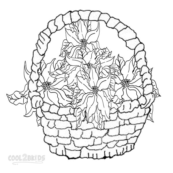 poinsetta coloring pages - photo#22