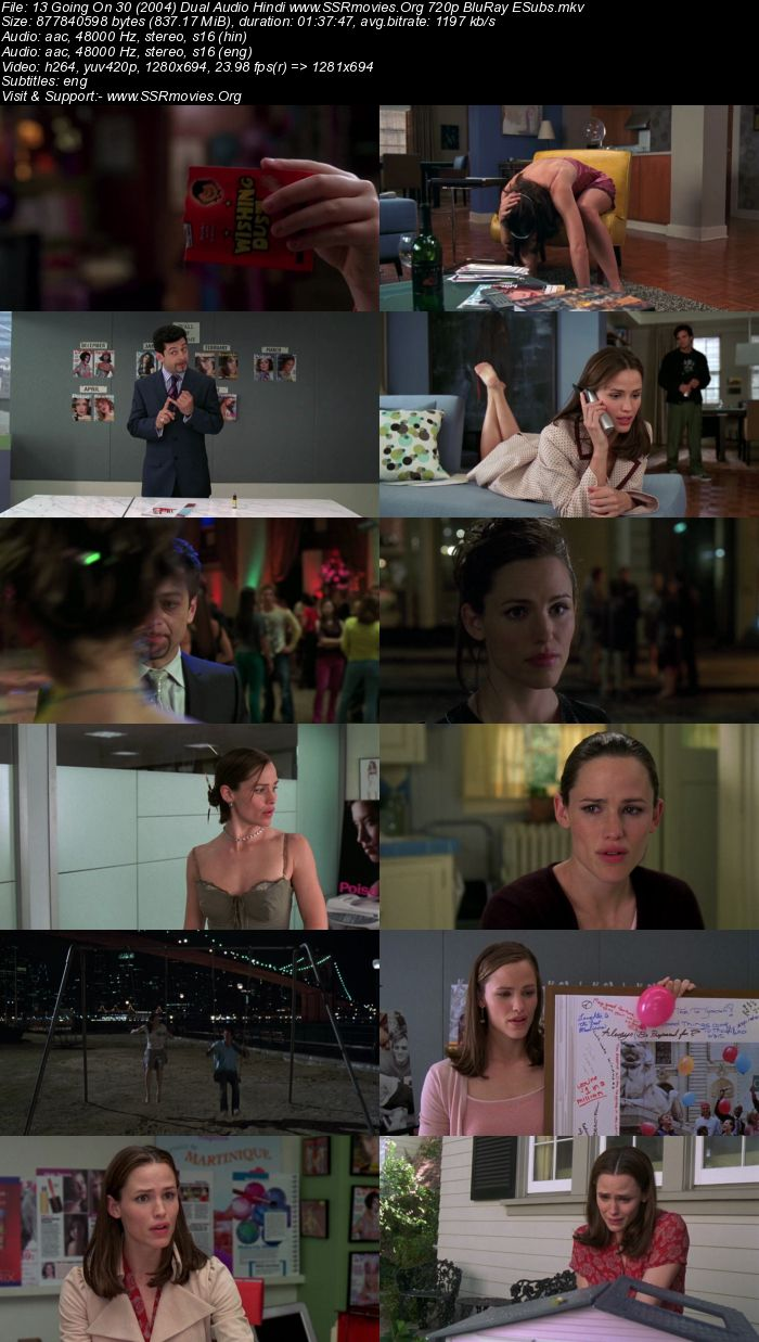 13 Going on 30 (2004) Dual Audio Hindi 720p BluRay x264 800MB Full Movie Download