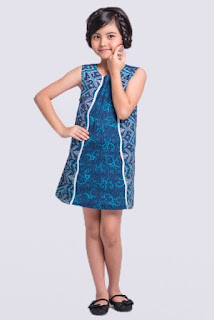 Model baju batik anak perempuan trendy