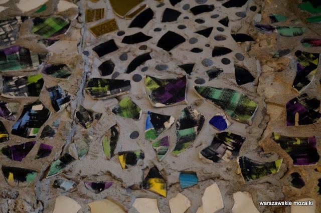 Warszawa Warsaw dekoracja mozaiki porcelit odpady ceramiczne kompozycja