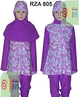 baju renang syari anak RZA 805