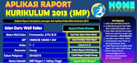 Aplikasi Raport K13 Smp Revisi 2017 2018 Dengan Excel Kurikulum 2013 Revisi 2017 2018