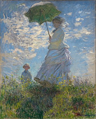 Claude Monet, Woman with a Parasol - Madame Monet and Her Son (Camille and Jean Monet), 1875, National Gallery of Art, Washington, D.C.