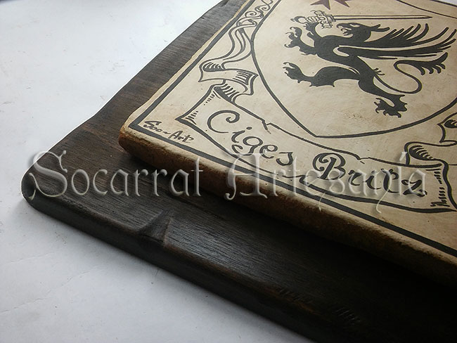 Nuestros socarrats también pueden ir enmarcados, sobre tabla, sueltos...Socarrat Artesanía. Soc-Art. Camateu