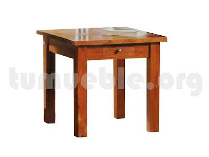 mesa rincon auxiliar con cajon hecho en teca 4004