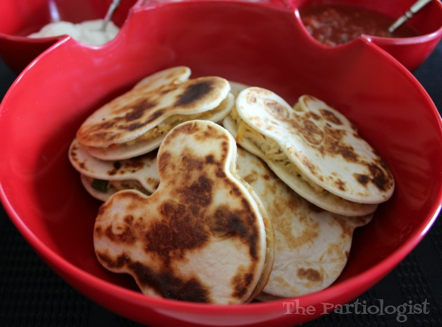 how to make mickey mouse quesadillas