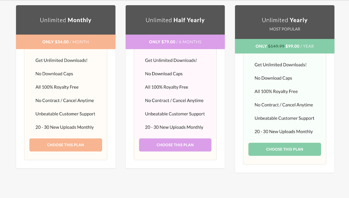 Simple Pricing Table