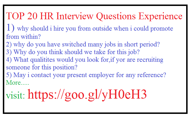 Attractive 9) Why You Have Switched Many Jobs In Short Time?