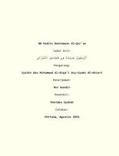 Dowbload Kumpulan Hadits Tentang Keutamaan Membaca Al Quran PDF