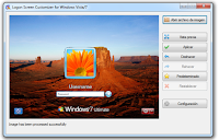 Download VsLogonScreenCustomicer, customize the Windows login screen
