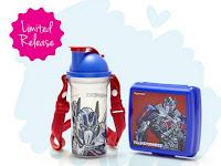 1 Set Wadah Bekal Makan Anak Lunch Set Transformer Tupperware