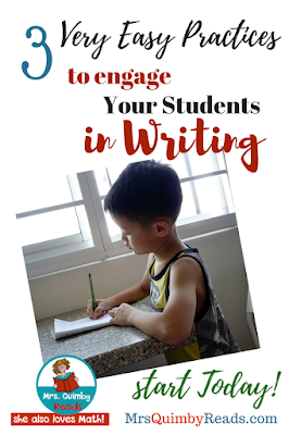 writing, student writing, photo prompts, writing practices, ways to engage students to write, MrsQuimbyReads