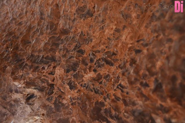 Sal cristalizado na caverna