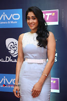 Actress Regina Candra Stills in Beautiful Sleeveless Blue Short Dress at SIIMA Short Film Awards 2017 .COM 0033.JPG