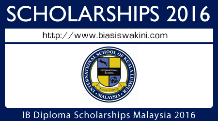 International Baccalaureate Scholarship 2016
