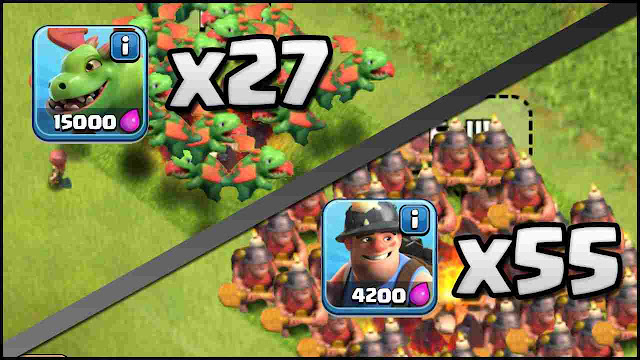 Update Mei 2016 Clash of Clans Baby Dragon dan Miner