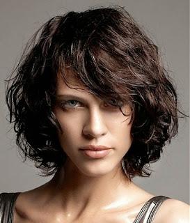 Short Layered Bob for Curly Hair