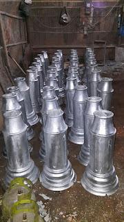Hasil pengecoran logam Aluminium Cor untuk Ornamen Tiang Lampu Taman Dekoratif