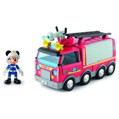 TOYS : JUGUETES - DISNEY La Casa de Mickey Mouse  Camión de Bomberos   Mickey Mouse ClubHouse 2016  Producto Oficial   IMC TOYS 181922   A partir de 3 años  Comprar en Amazon España