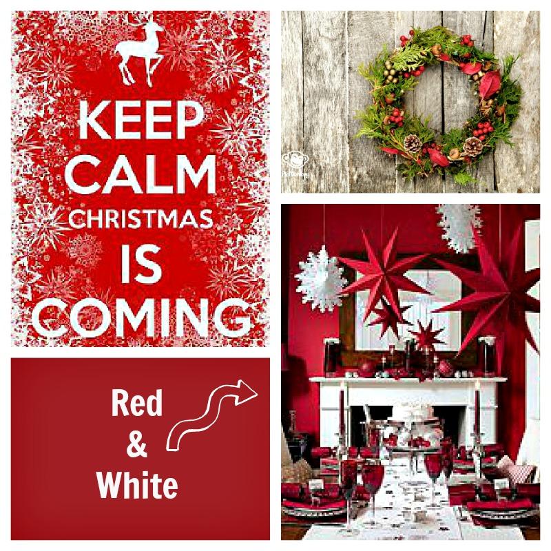 nakrycie stołu czerwień i biel