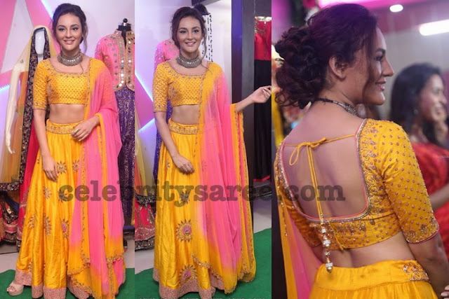 Seerat Kapoor in Yellow Lehenga