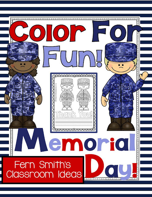 Memorial Day Freebies Thank You Gifts at Teacherspayteachers From Fern Smith's Classroom Ideas and Teach123.