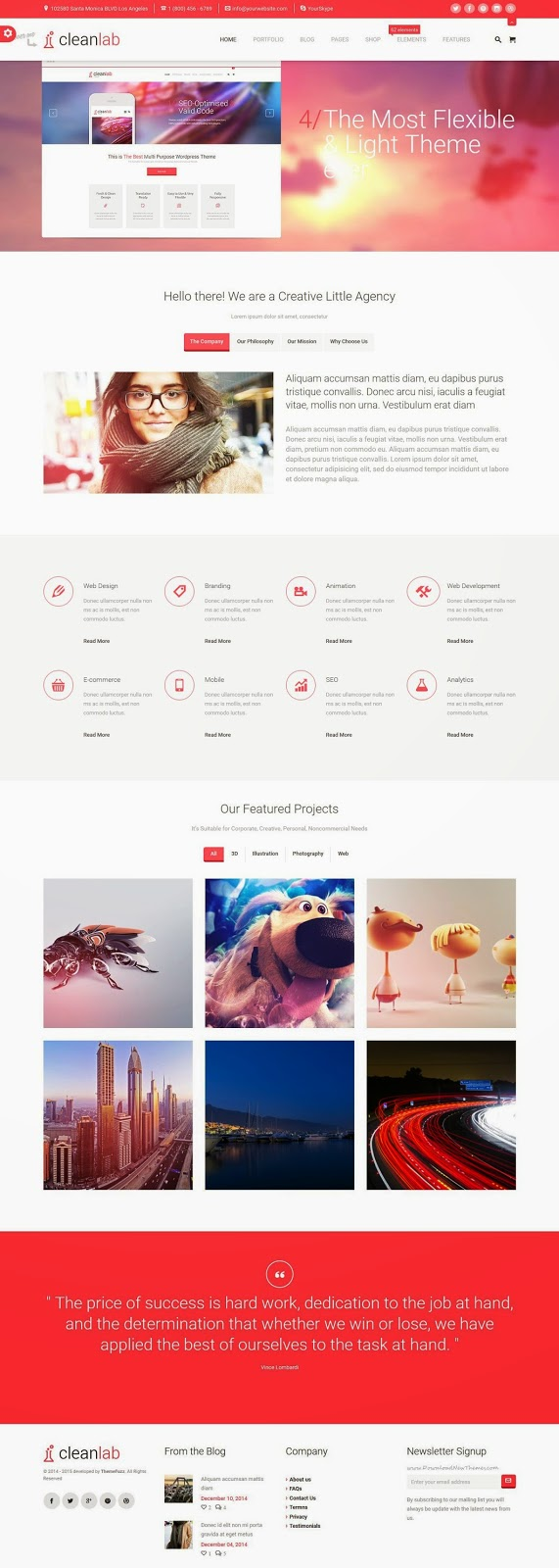 Free Multipurpose WordPress Theme 2015